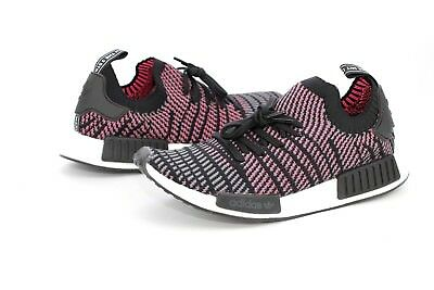 18f4453653e1 Adidas Originals NMD R1 STLT Primeknit Shoes Mens Size 11.5 US CQ2386 BLK   PNK