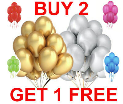 50 Latex PLAIN BALLOONS helium Quality Party BALOONS Birthday Wedding BALLONS