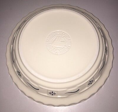 "Retired Longaberger Classic Blue Woven Traditions® Grandma Bonnie's 9"" Pie Plate"