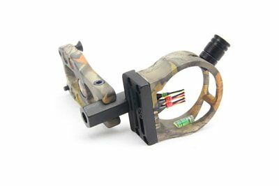 BLACK/CAMO FIBRE OPTIC BOW SIGHT FOR COMPOUND BOW w/ LED LIGHT HUNTING ARCHERY