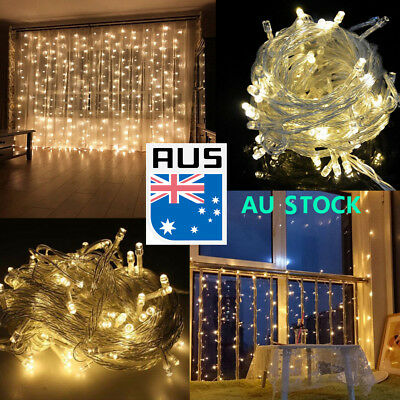 500 LED 100M Warm White Fairy Christmas String Strip Lights Party Garden Outdoor