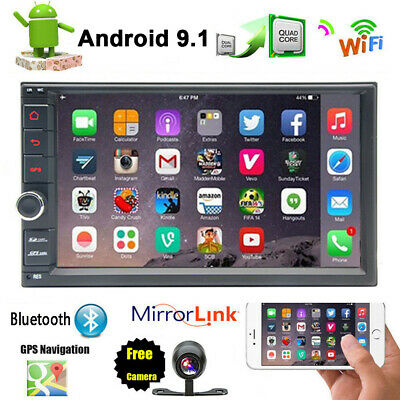 7'' Android 7.1 WiFi Double 2DIN Car Radio Stereo NON DVD Player GPS OBD2+Camera