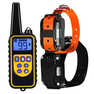 Rechargeable 2600ft Remote Electric Dog Training Shock Collar No Barking Remote