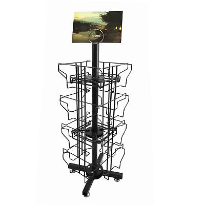 "Greeting Card Display 16 Pocket Horizontal 6x4"" Post Card Holder Rack Stand"