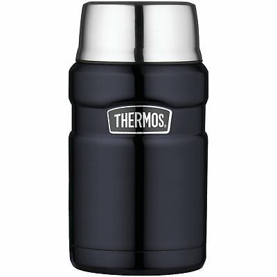 Thermos Stainless King 24 Ounce Food Jar, Midnight Blue, New, Free Shipping