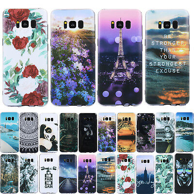 For Samsung Galaxy S7 S8 S9 S10 Plus Note 9 Silicone Painted Soft TPU Case Cover