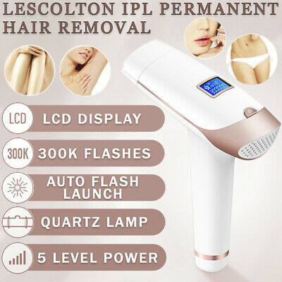 New IPL 300, 000 Pulses LCD Permanent Body & Face Hair Laser Removal Home Device
