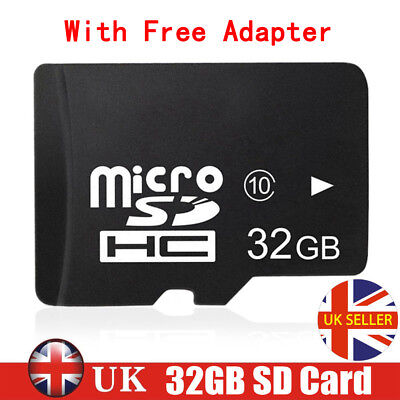 32GB Class10 Micro SD Card + Free Adapte For Smart Phones Tablets Camera Sat Nav