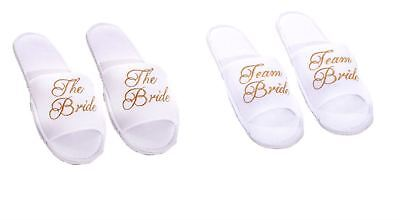 The Bride Team Bride Wedding Slippers Hen Party Accessories
