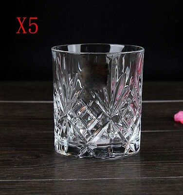 New 5X Capacity 230ML Height 80MM Transparent Whisky Wine Glass/Glassware %