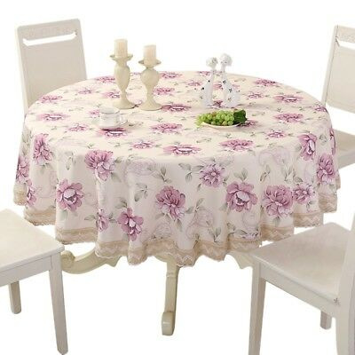 New Tablecloth Floral Table Cover Table cloth Crochet Home Decor Solid Color