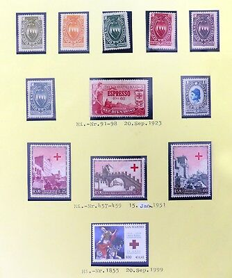 SAN MARINO Red Cross Issues As Described 1923 Mounted & 1951 U/M NF128