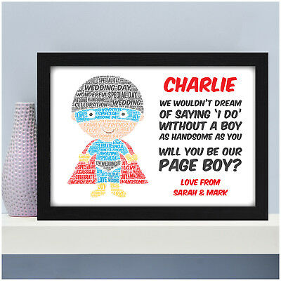 Will You Be My Page Boy Best Man Usher Personalised Superhero Wedding Gifts Boy