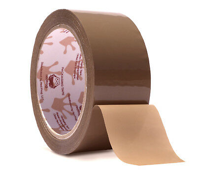 "Red Frog 2.2mil 1.88"" x 60 yards Tan/Brown, Low Noise Packaging Packing Tape"