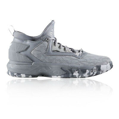 the latest 8b536 4f6fc adidas Mens D Lillard 2 Lace-Up Basketball Shoes Grey Sports Breathable  Trainers