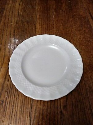 """SPODE English China CHELSEA WICKER White Bread Plate 6 & 3/8"""" *EXCELLENT*"""