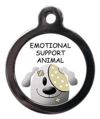 Emotional Support Animal Pet Tags Dog Cat Medical Tags Pet ID Tags Engraved Free