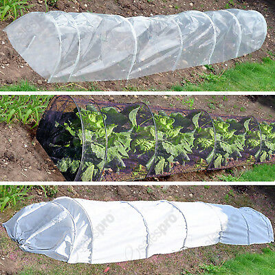 Selection of 3m plant nursery grow tunnels / cloches NET, FLEECE & POLY