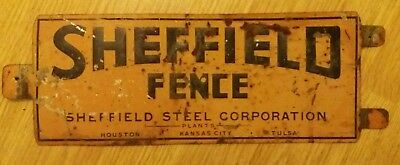 sheffield fence company sign antique