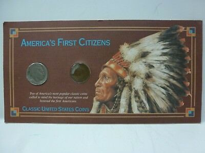America's First Citizens Classic United States Coins Indian Penny & Nickel