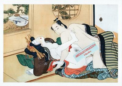 Japanese Shunga Reproduction A4 Poster Print Erotic Adult Only Theme New #6