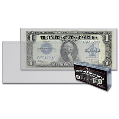 1 Case of 8 Packs (400) BCW Deluxe Large Bill Currency Holder