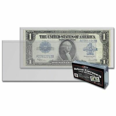 2 Case of 16 Packs (800) BCW Deluxe Large Bill Currency Holder