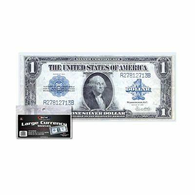 1 pack (100) BCW Large Bill Currency Sleeves