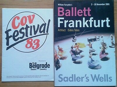 Individual/single Ballet and Dance programmes 1940s-2000s, UK wide