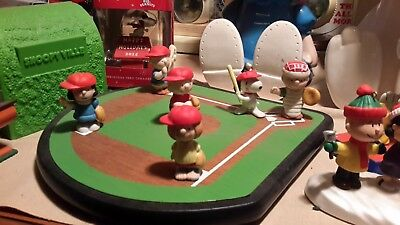 Peanuts Baseball Figures with Field