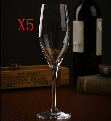 New 5X Capacity 190ML Height 205MM High Foot Champagne Wine Glass/Glassware %