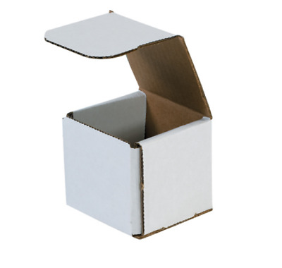 Pick Quantity! 1-500 3x3x1 White Small Folding Mailing Corrugated Box Light
