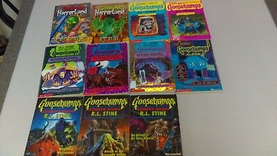 Lot of 11 Goosebumps - Mixed - Horrorland, Give Yourself, sp. Ed., Series 2000