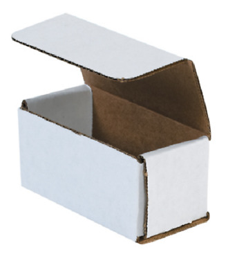 """1 Sample Strong Light Mailer 4""""x2""""x2"""" White Small Folding Mailing Corrugated Box"""