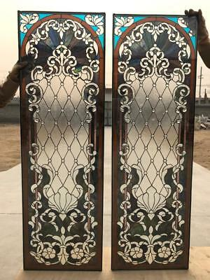 Beautiful Hand Made Stained Glass Door Panels - Sgp1