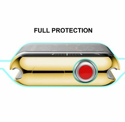 Apple Watch 42mm Case Soft Flexible Full Protection Cover Slim Lightweight Gold