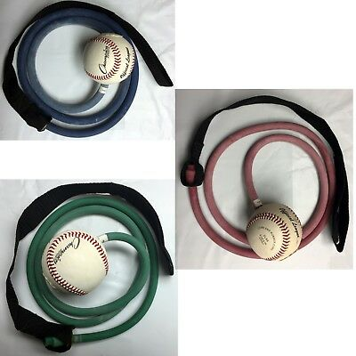 Champion Sports Resistance Arm Training Tubing Rubber Band set with Baseball