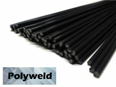 ABS Plastic Welding Repair Rods-40ft, 40pk-Black-12in x 3mm