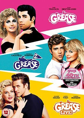 Grease/Grease 2/Grease Live! (Box Set) [DVD]