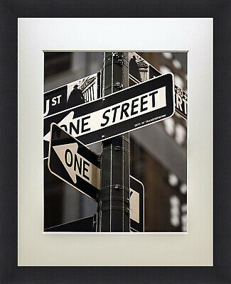 11x14 Black Wall Poster Picture Wooden Frame W 1pc White Mat For