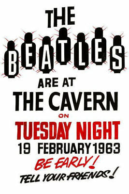 The Beatles Poster Concert At The Cavern Club Liverpool - A4 Print High Quality