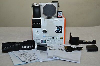 Sony Alpha a6000 24.3MP (Silver) Body Only+ Extras_ Only 237 Clicks_ MINT Cond