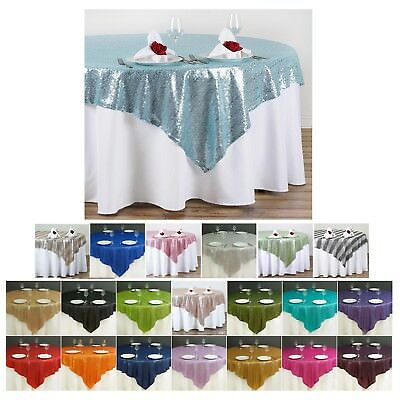 """LUXURY COLLECTION Duchess Sequin Table Overlay 72"""" x 72"""" (Table Toppers)"""