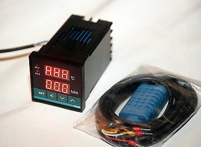 110v/220v Digital Temperature / humidity moisture dual controller, USA shipping