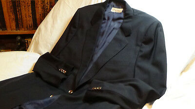Vintage Gucci two button jacket size 40 in navy blue