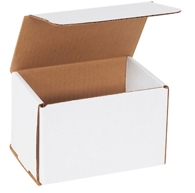 1 Sample Strong Corrugated Mailer 6x4x4 White Square Folding Mailing Boxes