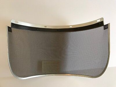 MSA 457409 V-Gard Wire Screen Mesh Visor Aluminum Edge