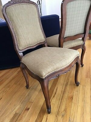 Set Of 2 Ralph Lauren Dining Chairs In Carved Fruitwood 2 000 00
