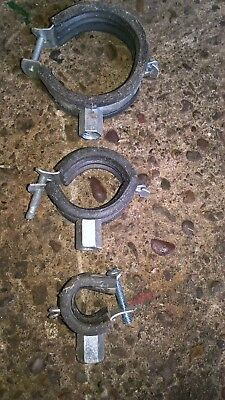 Rubber lined pipe clip/clamp/bracket various sizes new boxed