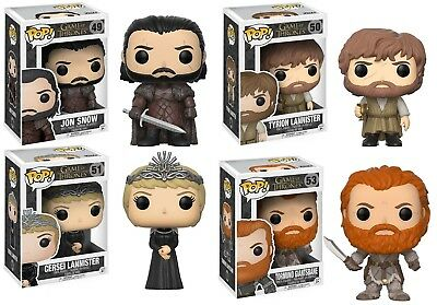 Funko POP Game of Thrones Figure w/ POP shield - Jon Snow, Daenerys Targaryen